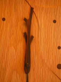 手作り木製電波掛け時計 なら 鳥のつぼ押し
